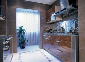 现代简洁时尚厨房布置