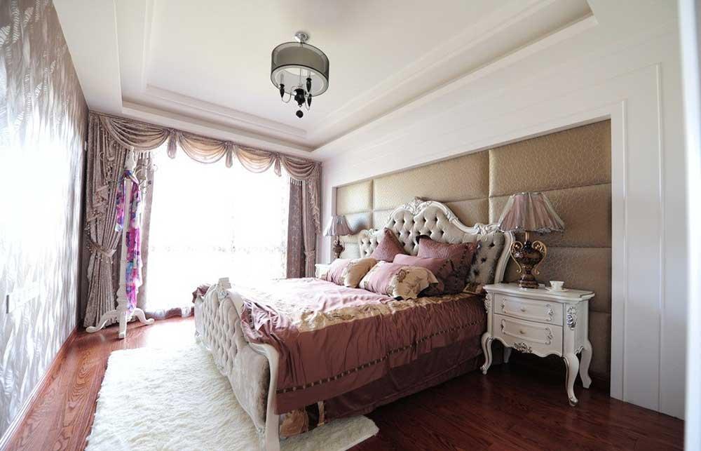 梦幻甜美欧式风格卧室装修效果图
