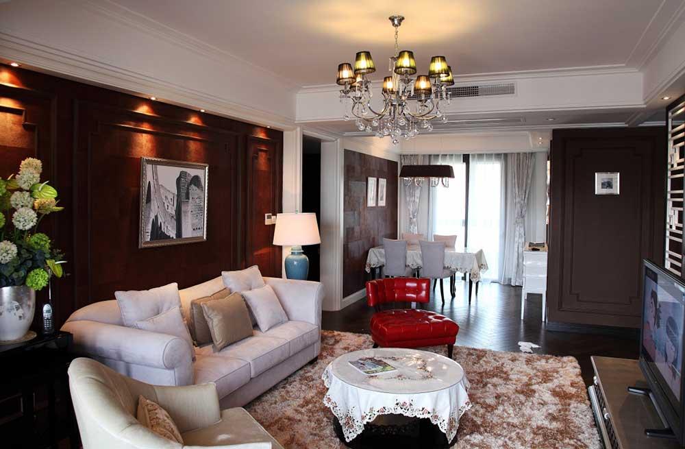 2016大气新古典客厅装饰案例
