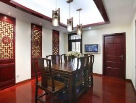 文艺中式餐厅设计效果图