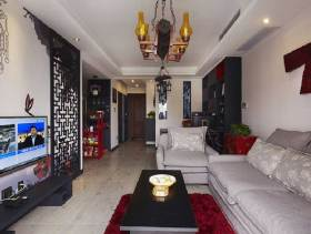 雅致中式客厅装潢案例