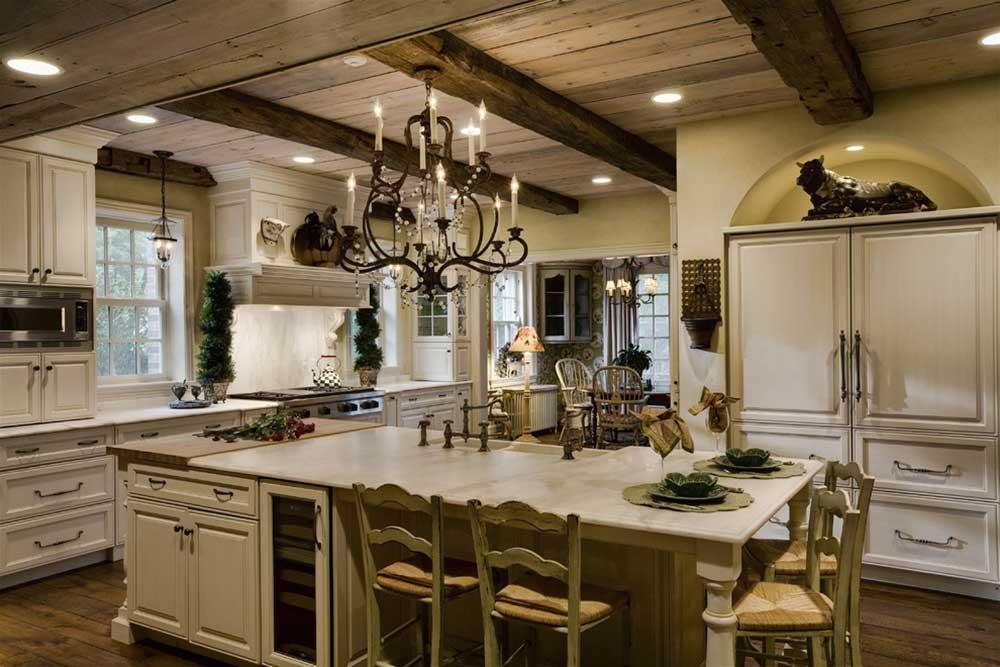 美式乡村厨房装修效果展示
