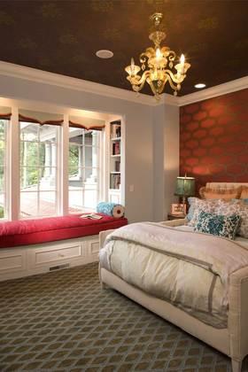 乡村欧式风格温馨卧室布置