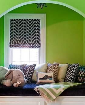 创意绿色现代飘窗设计美图
