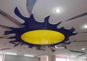 现代个性撞色风格吊顶设计