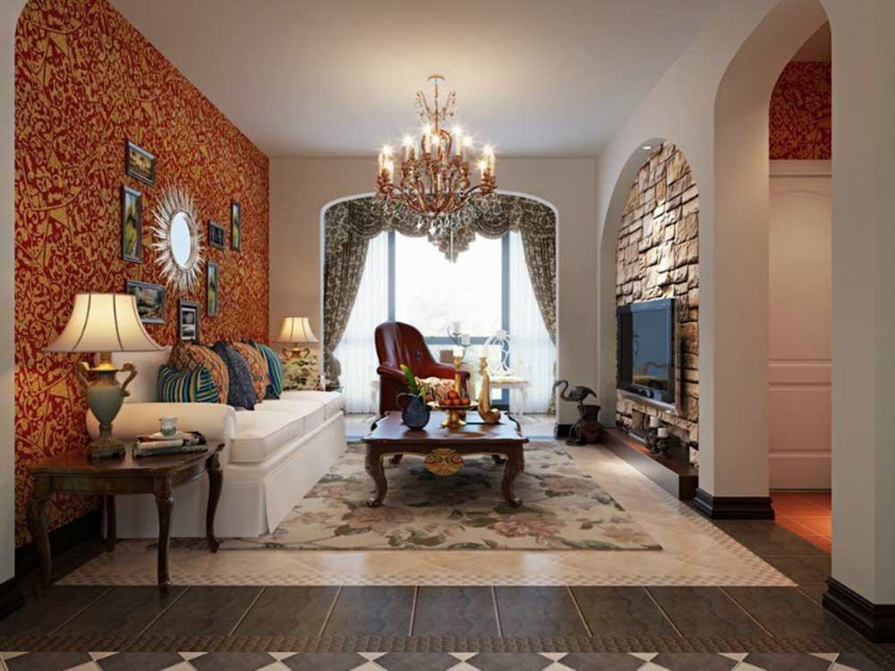 文艺艺术感欧式风格客厅装修效果图