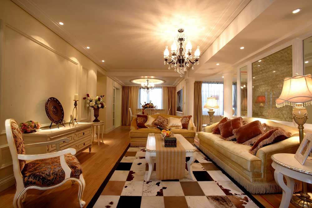 低奢华丽欧式风格客厅装修布置