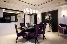 神秘典雅紫色现代风格餐厅设计
