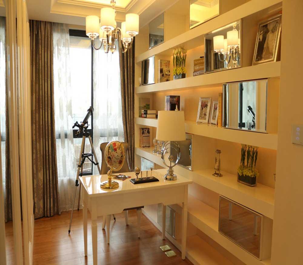 唯美雅致欧式风格书房设计