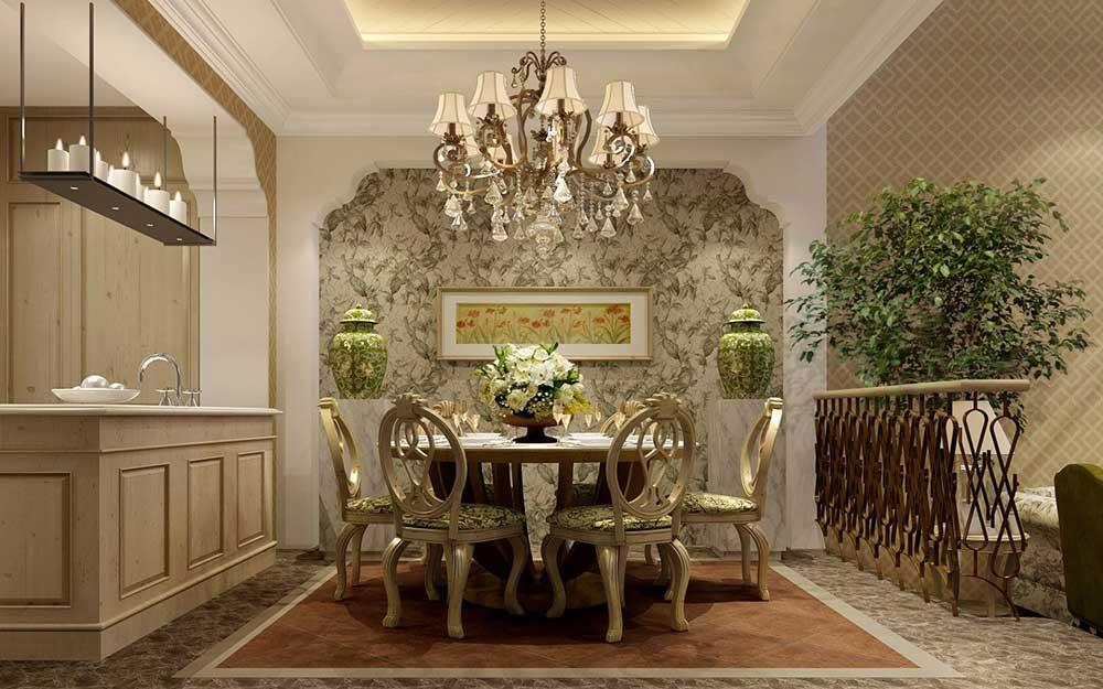富丽堂皇金色欧式餐厅美图图片