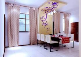 浪漫粉色现代风格餐厅设计
