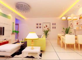 温馨简洁现代风格客厅家装图
