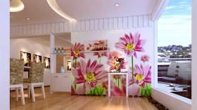 浪漫花朵现代风格背景墙展示