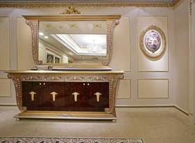 华丽欧式童话风浴室柜展示