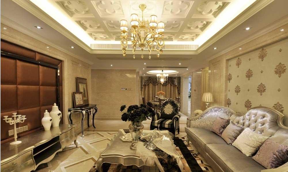 欧式富丽堂皇客厅布置