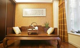 中式传统休闲区布置效果图