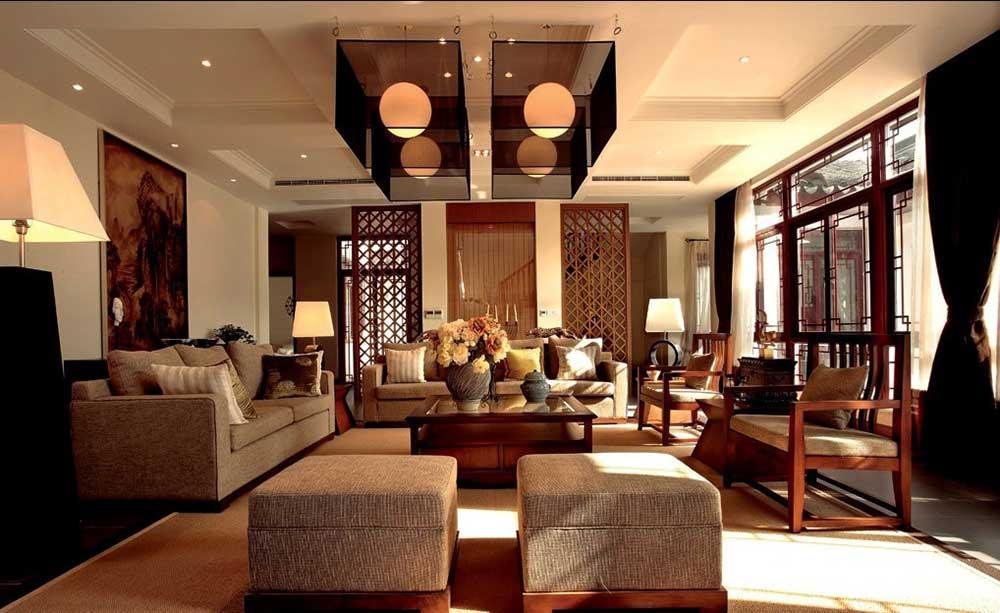 个性雅致新中式风格客厅装修美图