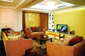 黄色温馨东南亚风格客厅装潢