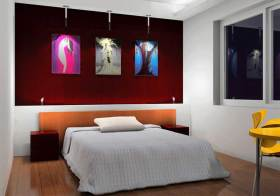 现代时尚卧室装潢设计