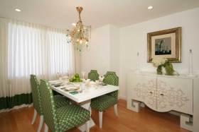新古典风格绿色自然餐厅设计欣赏