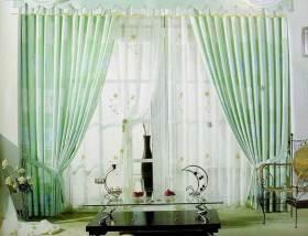 田园风格绿色清新窗帘效果图展示