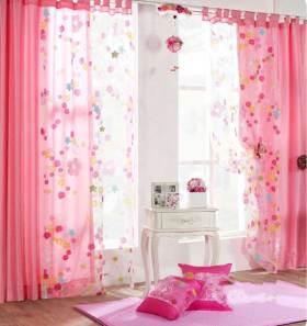 家装粉色窗帘效果图设计