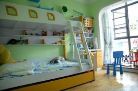 简约绿色清新儿童房布置