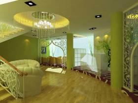 欧式风格豪华闪亮客厅吊顶效果图