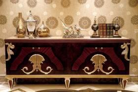 新古典风格收纳展示柜装修效果图