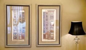 新古典简洁时尚背景墙设计图
