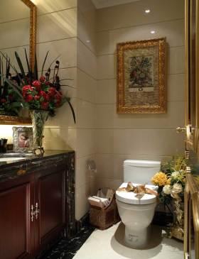 奢华质感新古典风格卫生间装修效果图