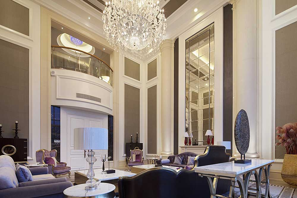 新古典时尚挑高客厅设计图