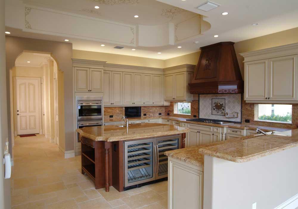 復古美式風格廚房裝修設計圖片