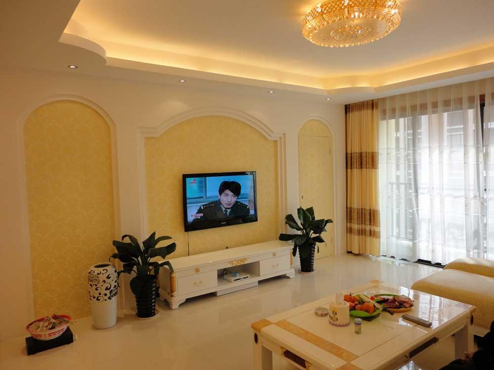 欧式风格电视背景墙装潢效果展示