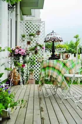 精致浪漫田园风格阳台布置