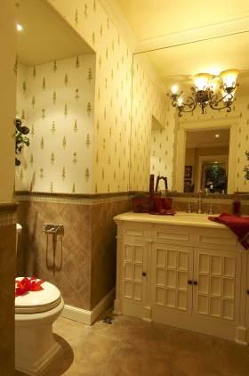 2016华美精致美式风格浴室柜装饰布置