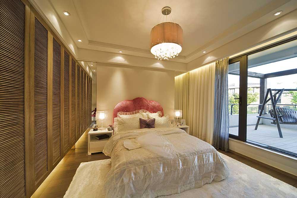 文艺大方欧式风格卧室装潢
