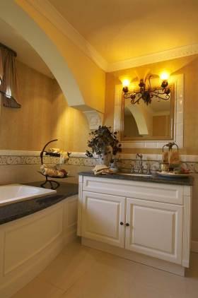 文艺美式风格浴室柜装修欣赏