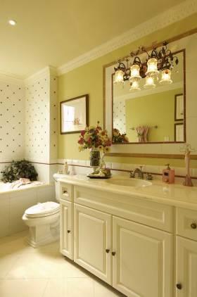 清新雅致新古典风格浴室柜装潢