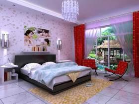 现代个性卧室装修图片