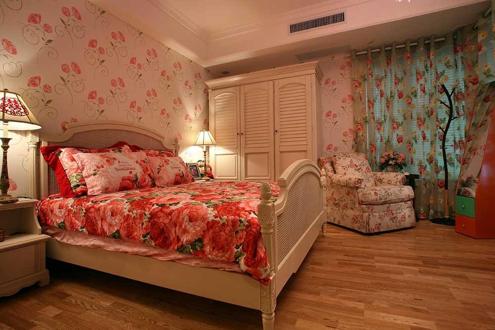 优雅浪漫欧式风格卧室装潢布置