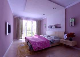 紫色唯美现代风格卧室装饰设计