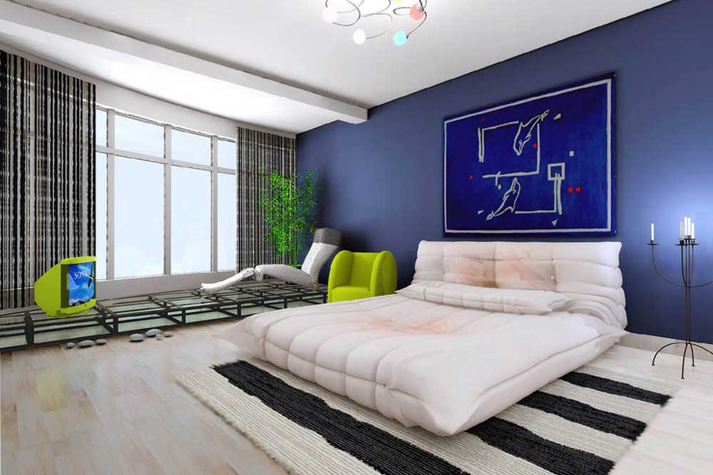 清爽个性现代风卧室装修布置