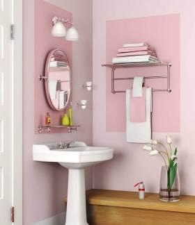 甜美粉嫩简约风格卫生间设计装饰