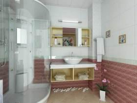 浪漫柔和简约风格卫生间设计图片