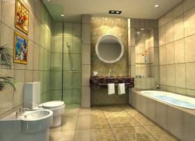 文艺雅致新古典风格卫生间装修效果图