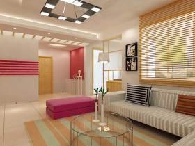 唯美大方现代风格客厅装潢布置