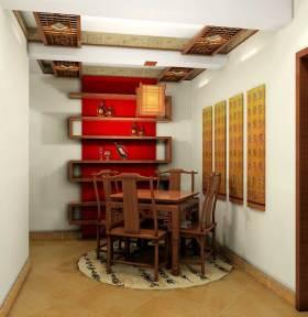 古朴经典中式元素餐厅布置装潢