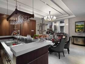 精致典雅现代风格开放式厨房设计