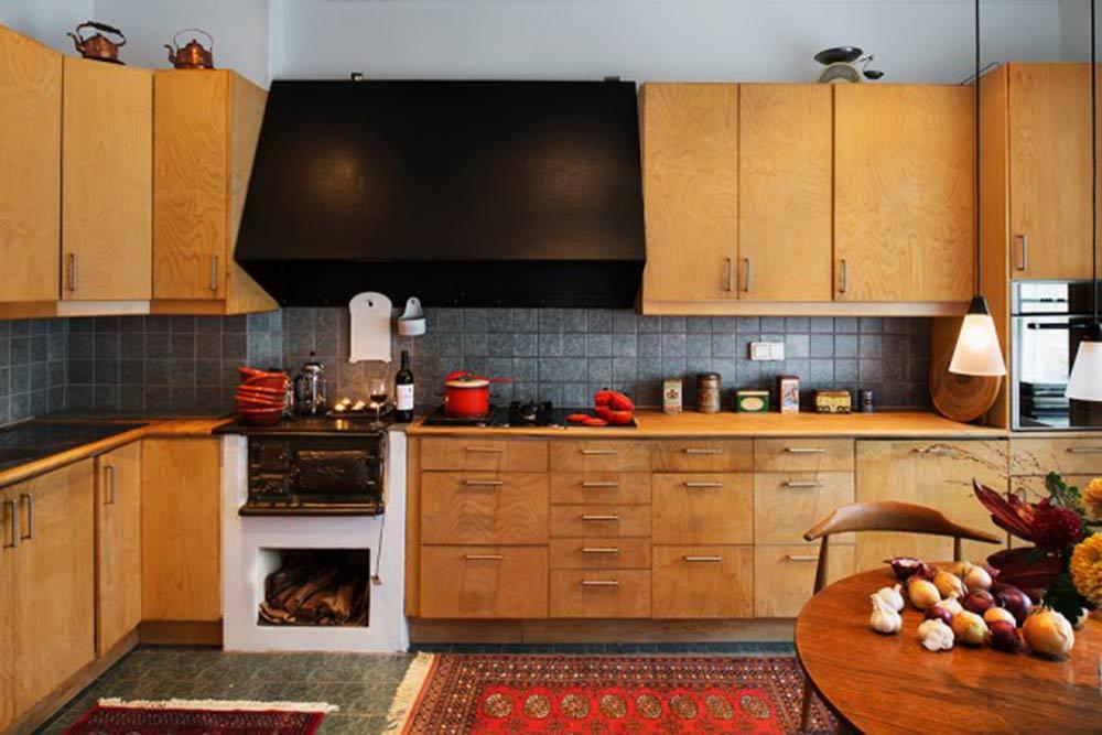 原木时尚美式风格厨房装修